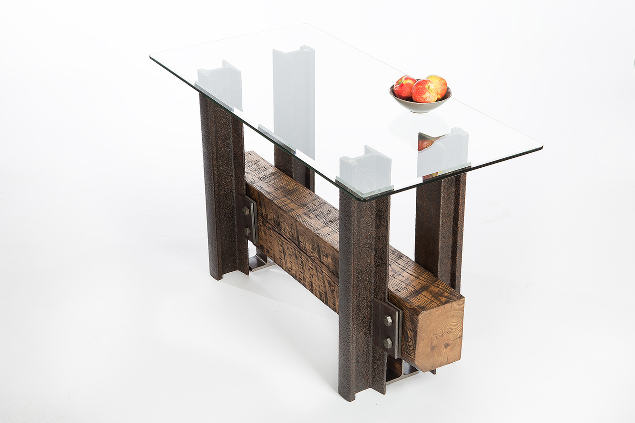 credenza console table artisan crafted from reclaimed leed-certified wood steel made in usa