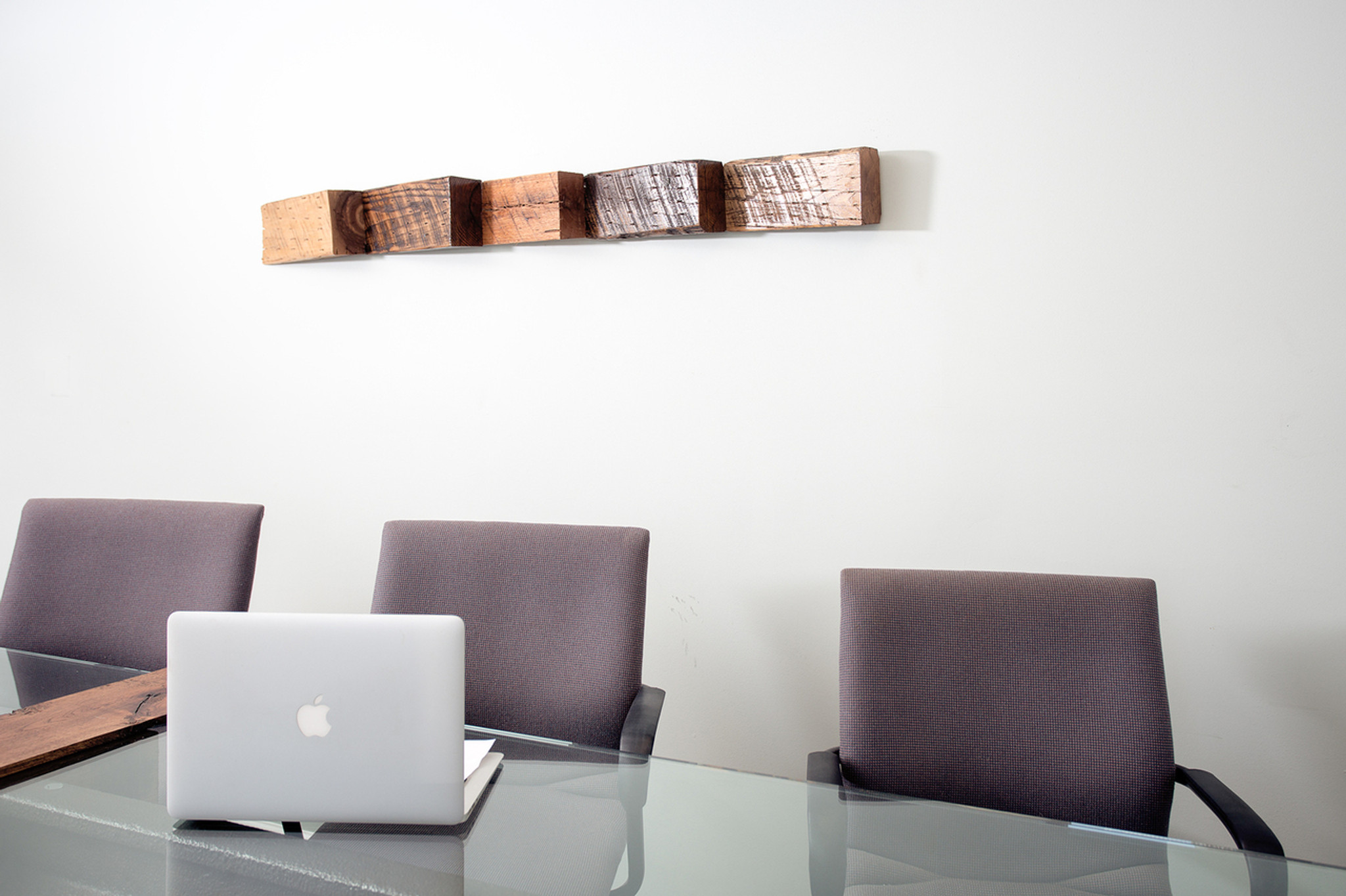 conference room modern art sculptural accent for wall natural oak hardwood