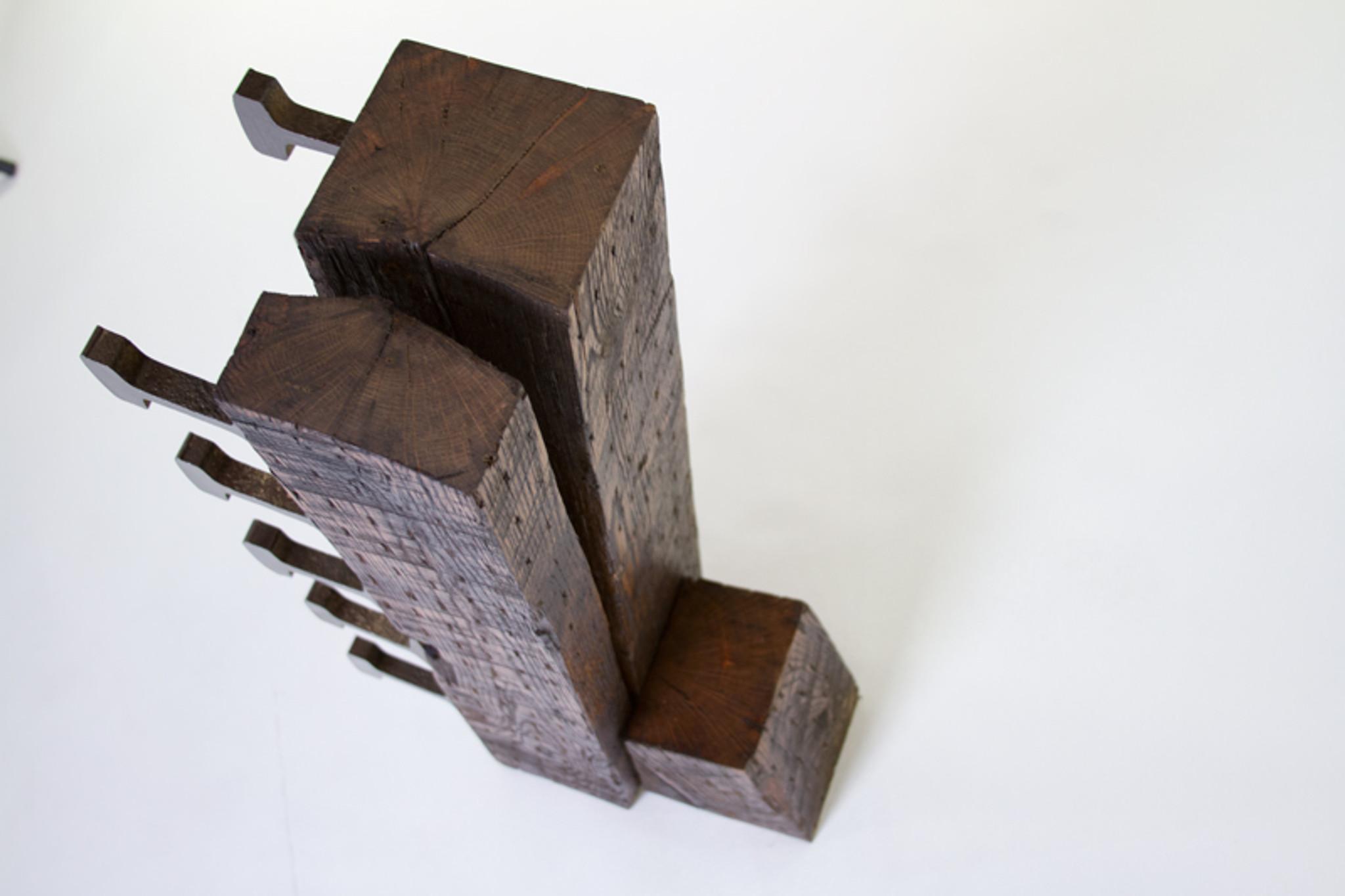 distressed oak wood wine rack
