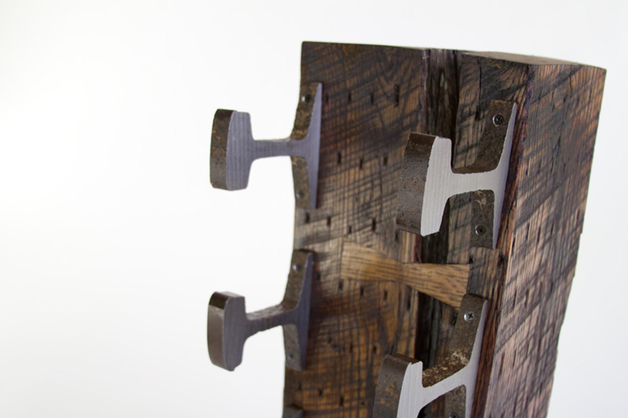 bowtie joinery wine rack detail