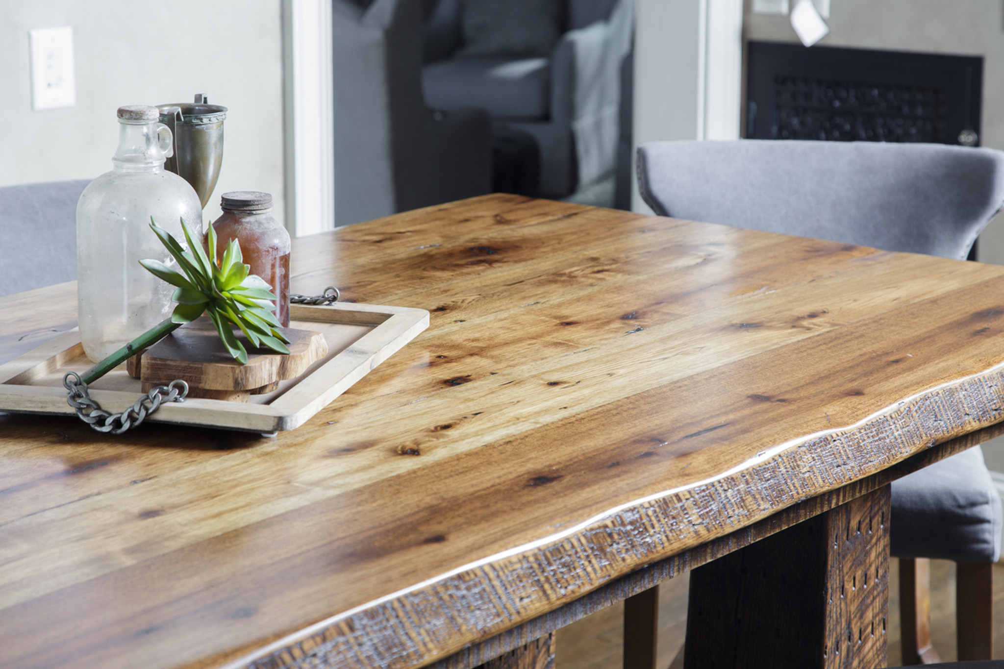 Trestle Dining Table - Bartop Height