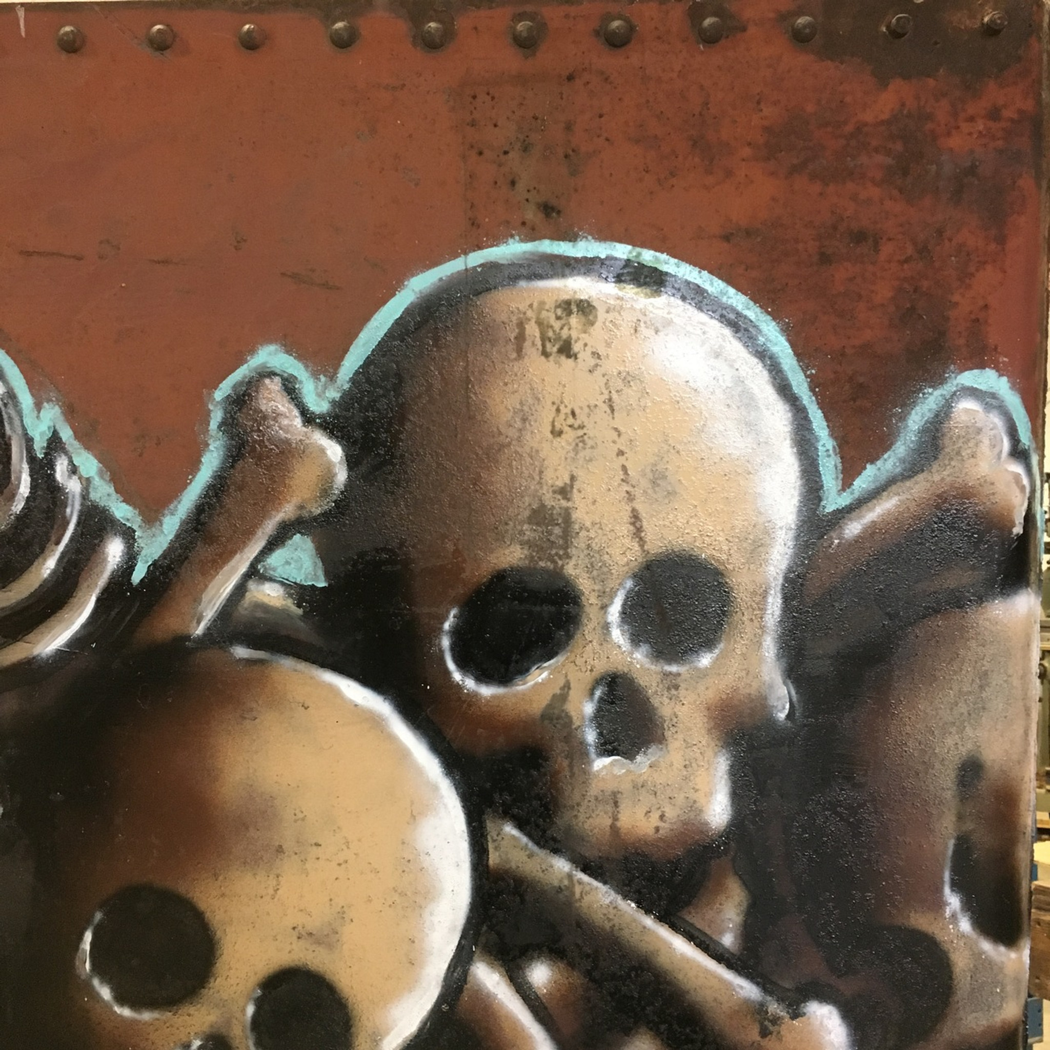 ICH skulls and bones fr8 art graff from Ichabod #ichabodtherailgod