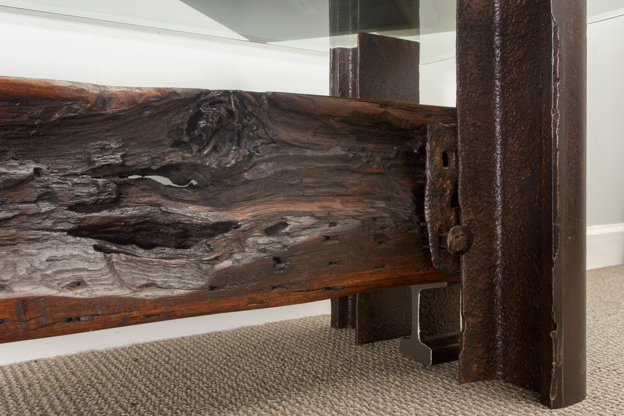 coffee table live edge natural dark wood timber