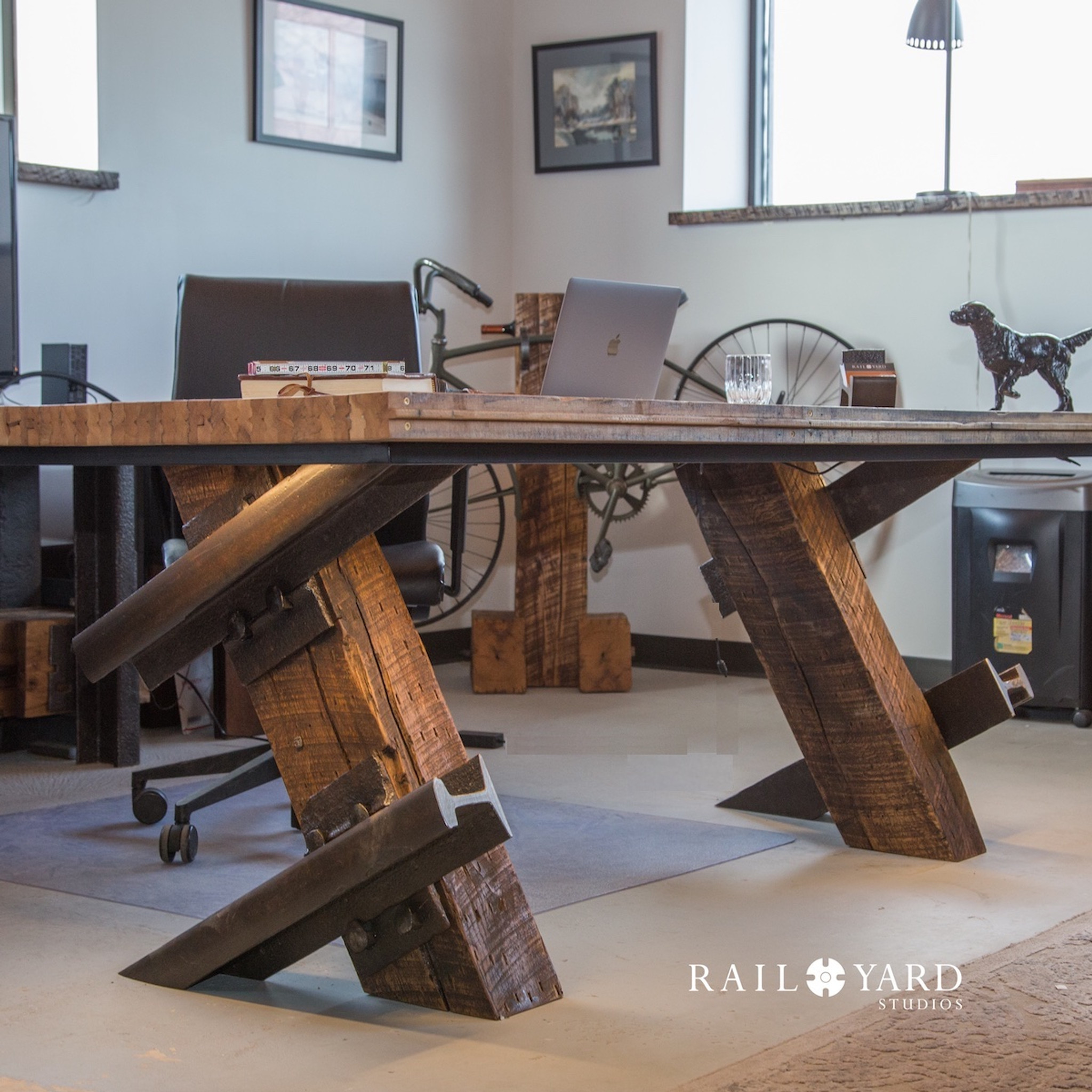 Switchpoint Desk with Boxcar Flooring Desktop
