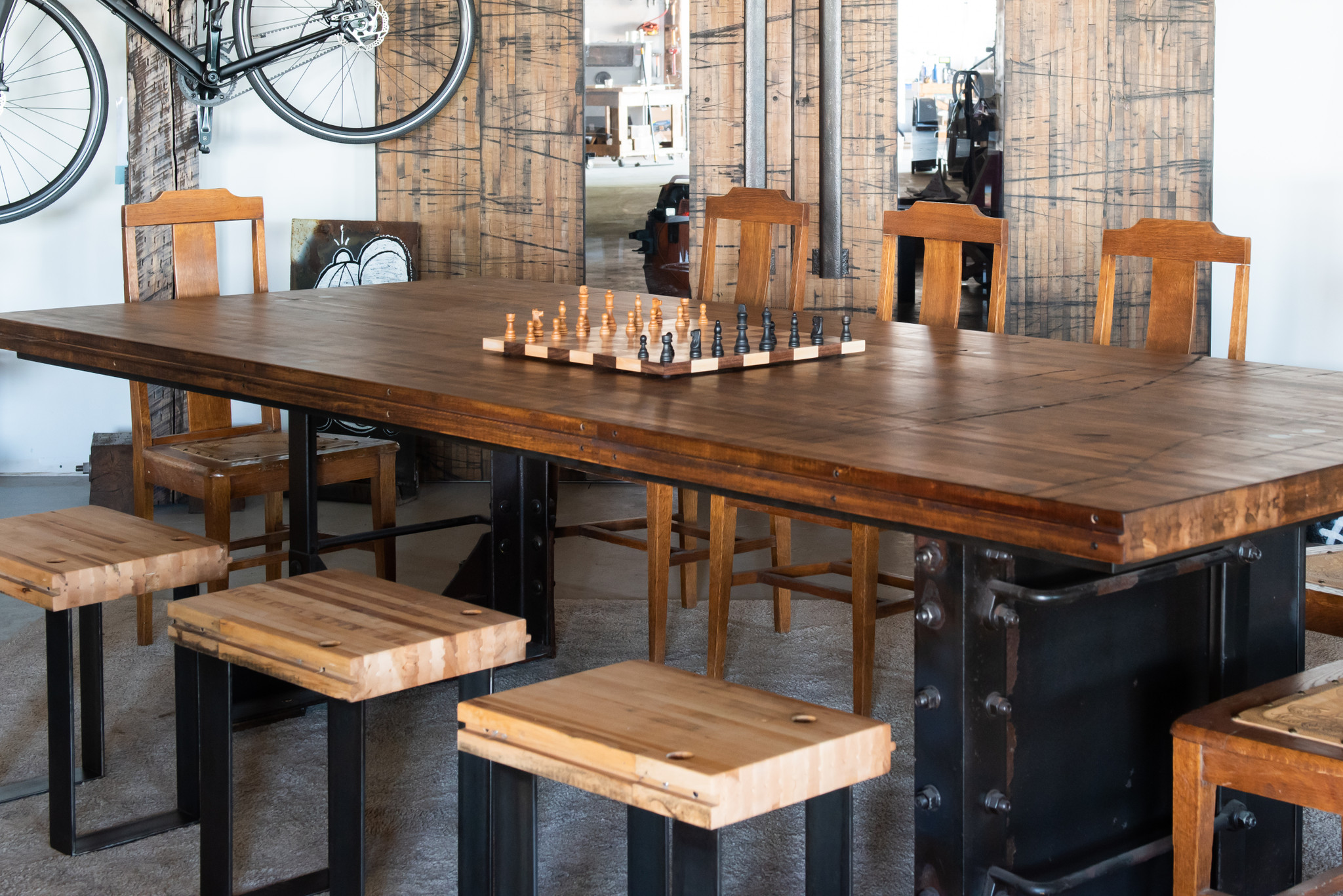 industrial modern dining table