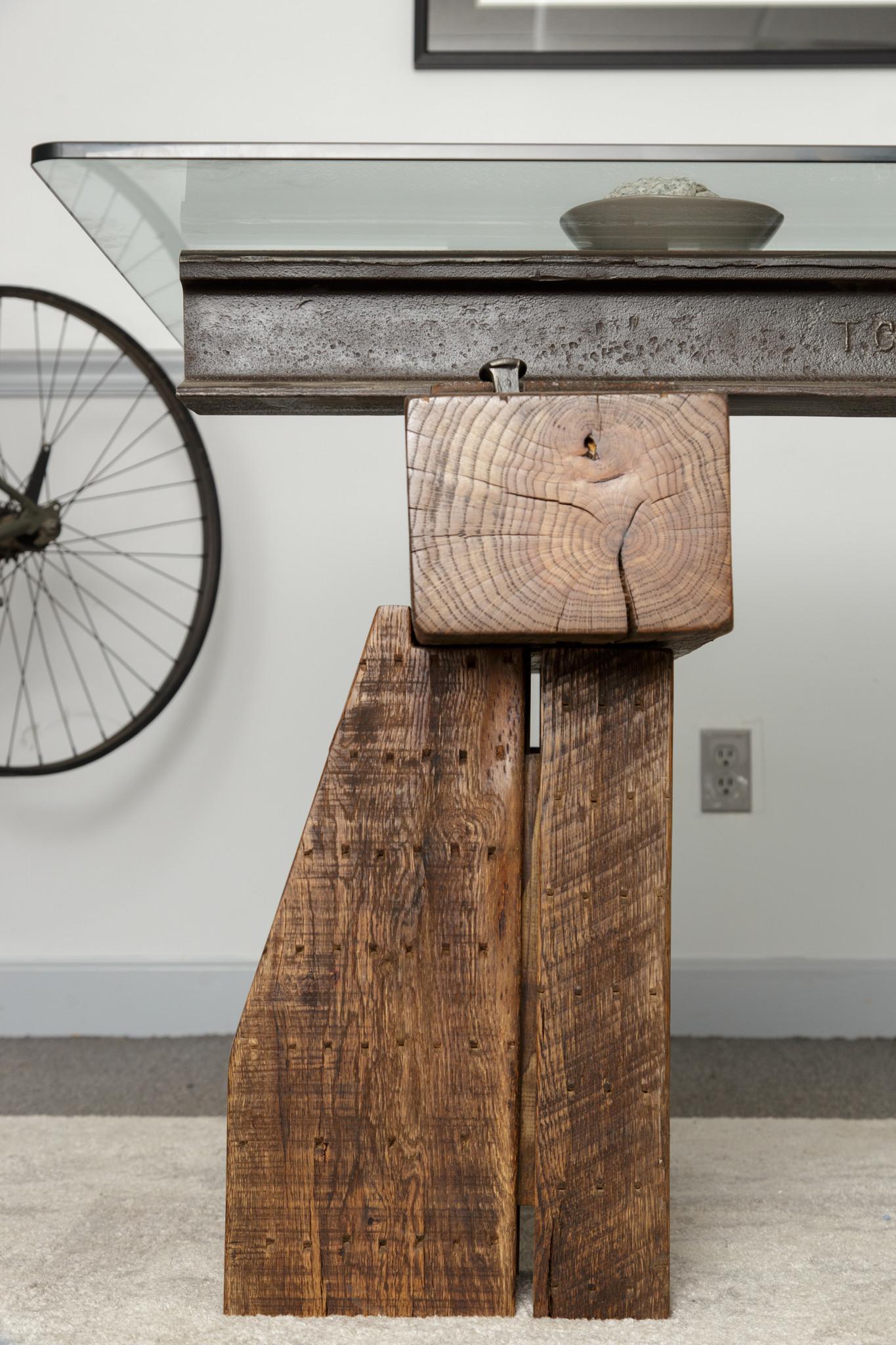 rustic decor detail desk leg
