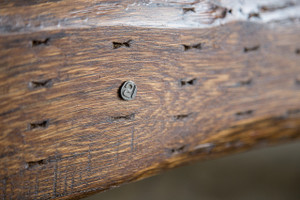individually numbered oak hardwood bench furniture