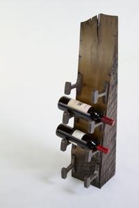 4-Bottle Wedge Wine Rack (No. 21)