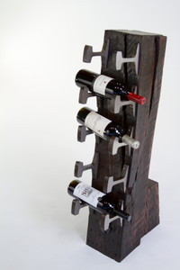 small batch wine rack individually numbered from vintage aged reclaimed and salvaged industrial materials