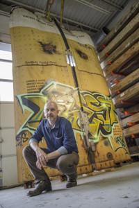 Robert Hendrick with Project Boxcar Urban Street Art Graffiti on Steel