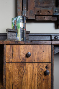 Custom Office Credenza with Drawers & Shelves