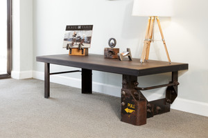 boxcar ladder historic table