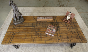 Distressed Hard Maple Boxcar Flooring Tabletop