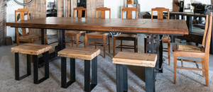 Industrial kitchen dining table