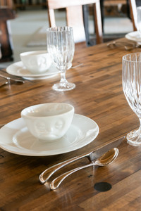 Fifty-eight Products bowl and white plates dining table