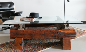Industrial modern original collection cherry rail coffee table