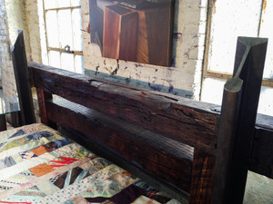 custom reclaimed vintage headboard footboard