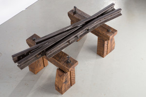 railroad artifact themed creations from vintage industrial era hardware