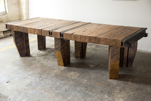 luxury renovated warehouse decor conference table