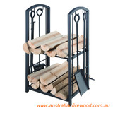 2 Tier Wood Rack With Fire Too