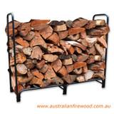 Outdoor Wood Rack Black