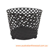 Round Fire Pit Basket with Feet