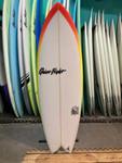 5'4 QUIET FLIGHT BAD FISH SURFBOARD (60545)