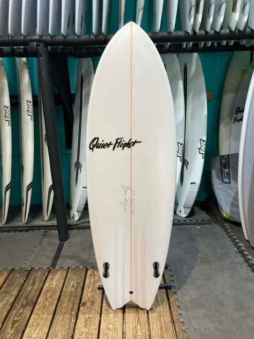 5'8 QUIET FLIGHT BADFISH SURFBOARD (60860)