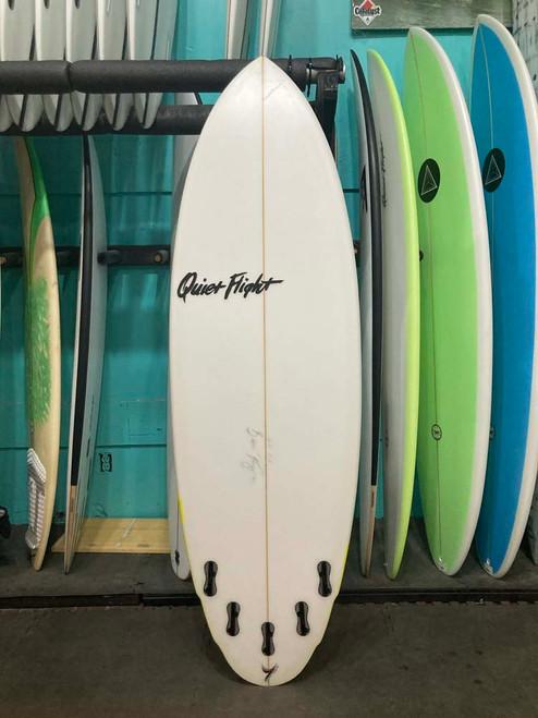 6'0 QUIET FLIGHT DOUBLE AGENT USED SURFBOARD (60917U)