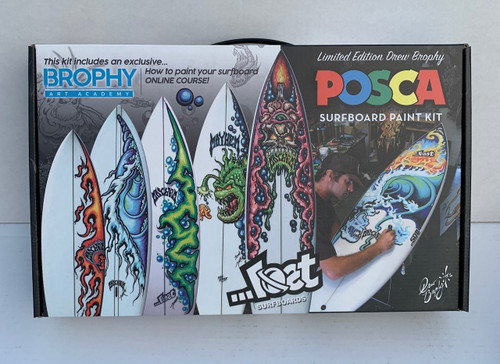 DREW BROPHY X ...LOST SURFBOARDS POSCA STARTER KIT with ONLINE COURSE ( )