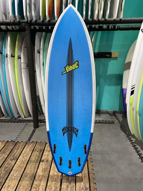 5'8 LOST ROCKET REDUX BLACK DART SURFBOARD (188826)