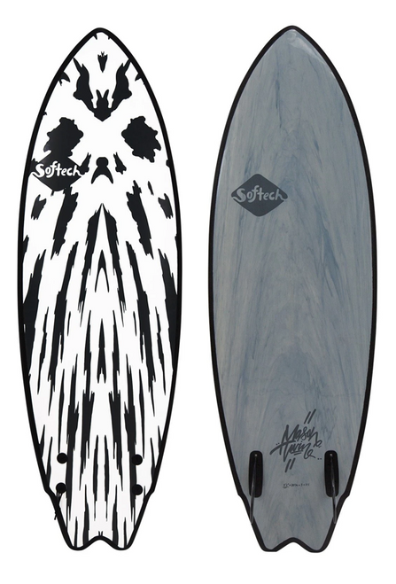 SOFTECH MASON TWIN 5'10 GUNMETAL BLACK SURFBOARD (MHTII-GUB-510)