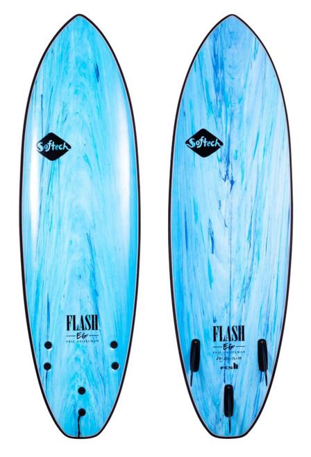 5'7 SOFTECH FLASH ERIC GEISELMAN AQUA MARBLE SURFBOARD (FEGII-BUM-057 FEGII-BUM-057)
