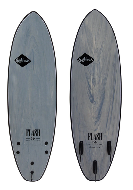 SOFTECH FLASH ERIC GEISELMAN 6'0 GREY MARBLE SURFBOARD (FEGII-GRM-060)