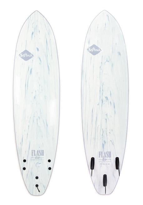 6'6 SOFTECH FLASH ERIC GEISELMAN WHITE MARBLE SURFBOARD (FEGII-WHM-066)