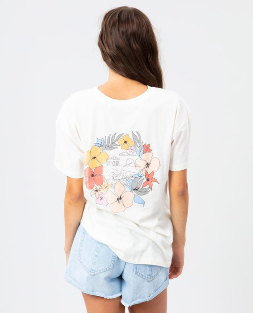 RIPCURL BLOOM OVERSIZED TEE (GTEVK7)