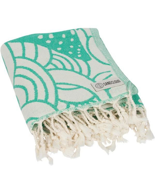 SAND CLOUD GREEN WHALE SHARK TOWEL (WSATOW012GRNRG)
