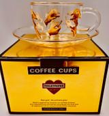 Demi-Tasse Coffee Cup & Suacer - Lipstick