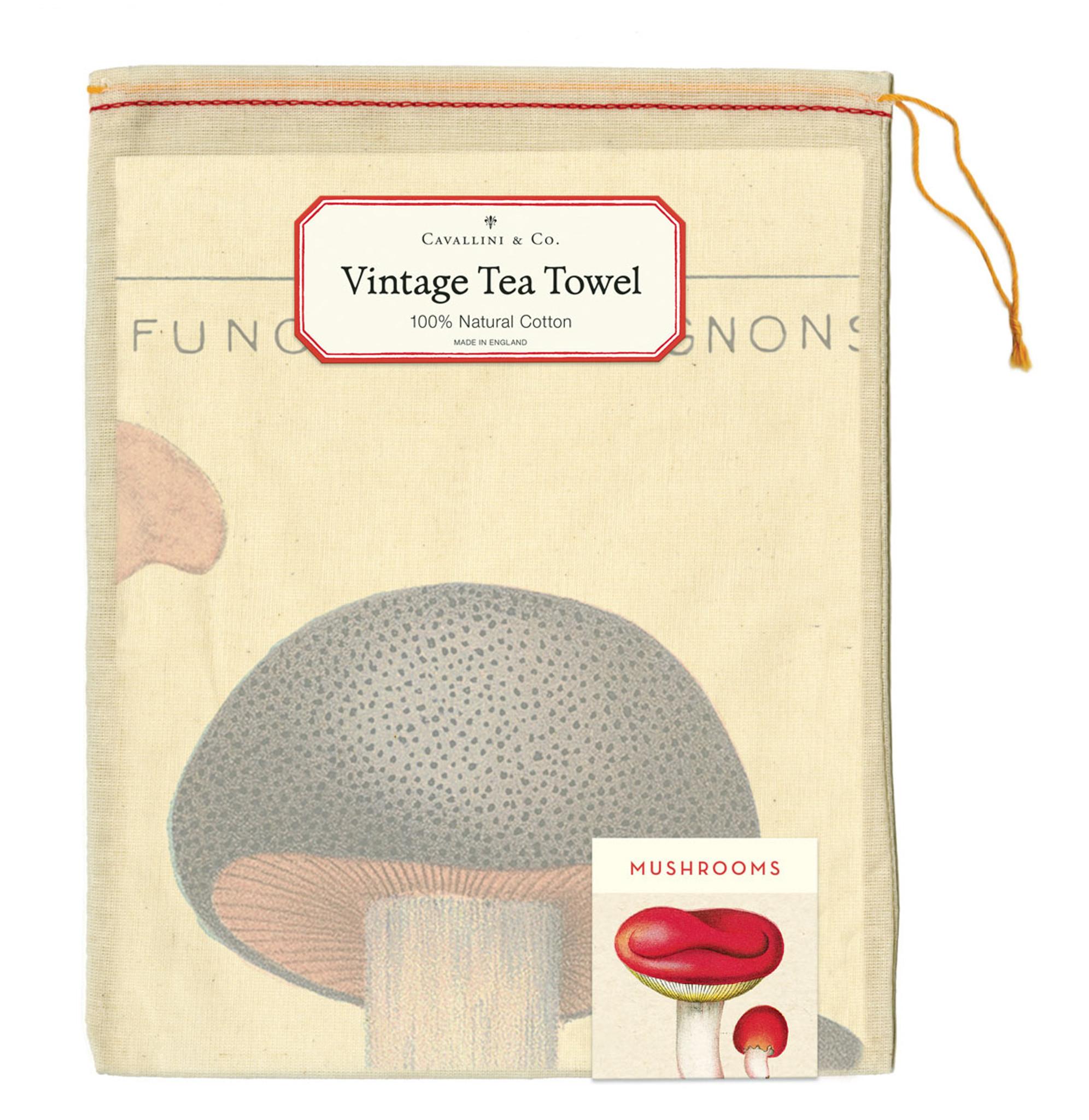 Tea Towel - Mushrooms