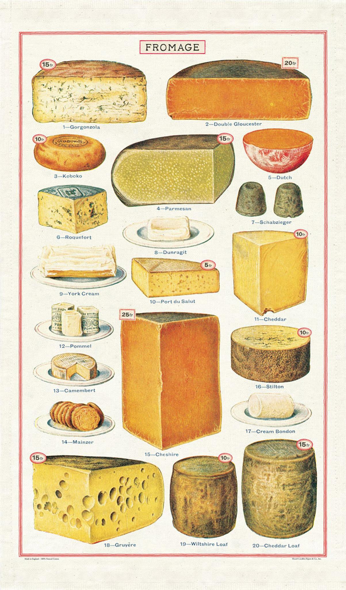 Tea Towel - Cheese