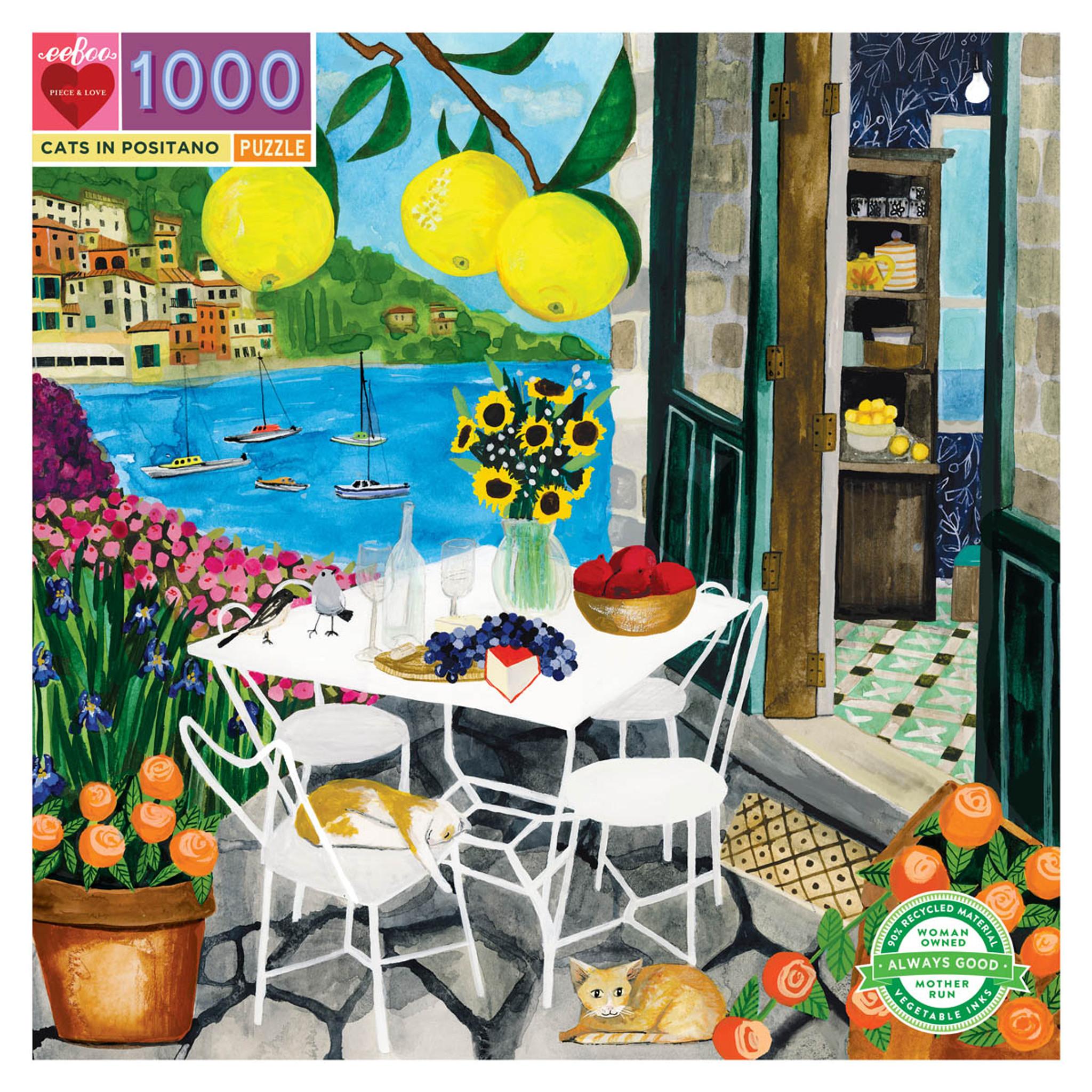 1000 pc puzzle - Cats of Positano