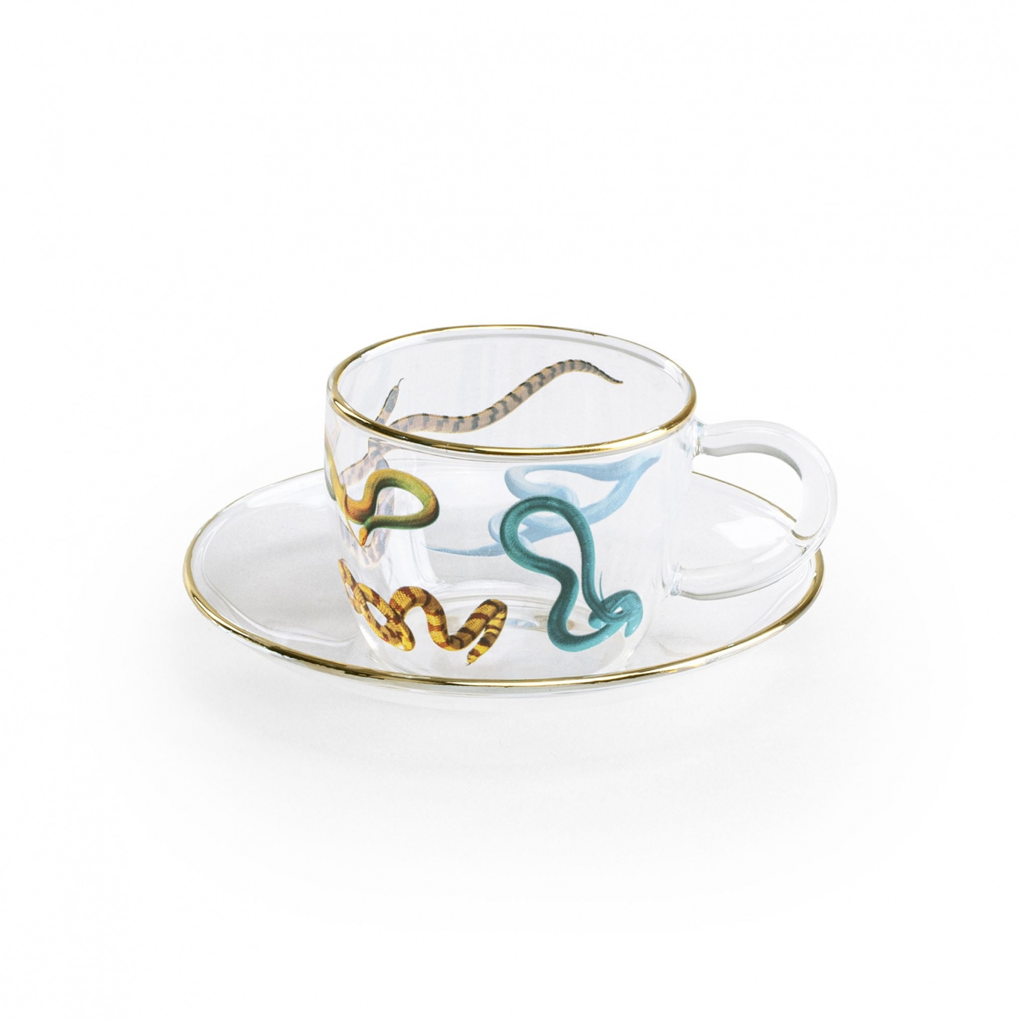 Demi-Tasse Coffee Cup & Saucer - Snakes