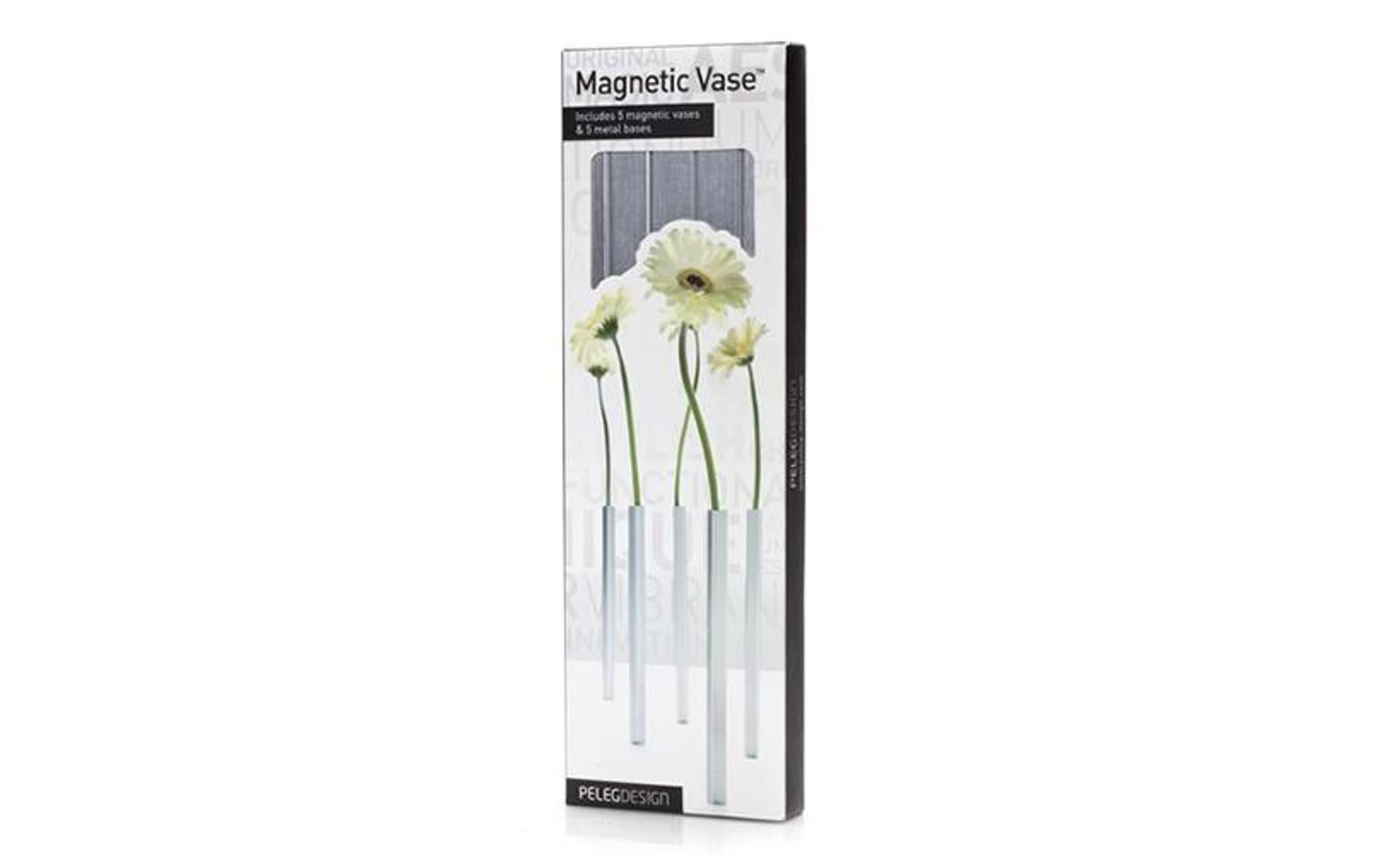 Magnetic Vase -set of 5 Aluminium Vases