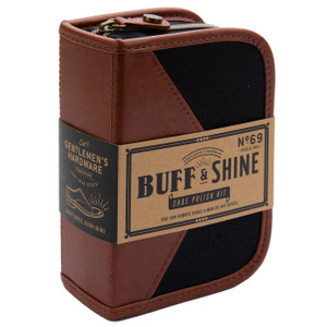 Gentlemen's Hardware Buff and Shine shoe polish kit