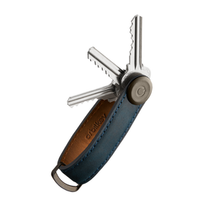 Orbitkey - Crazy Horse Marine Blue with blue Stitching