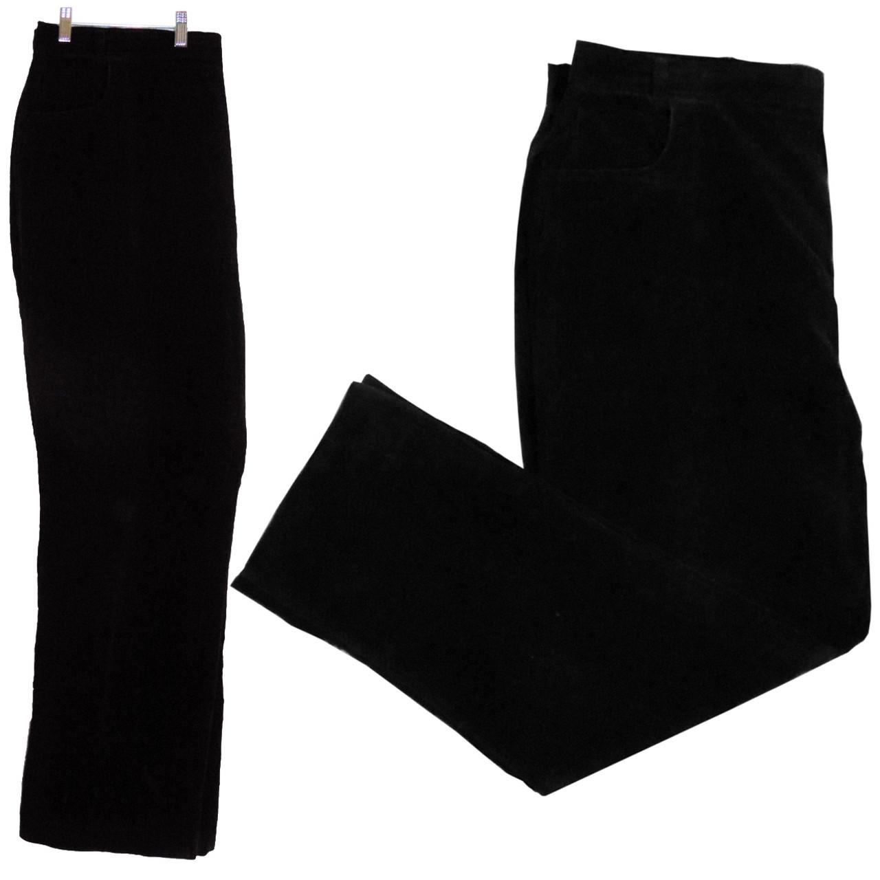 Yves Venet Vintage Black Velvet Jeans Pants