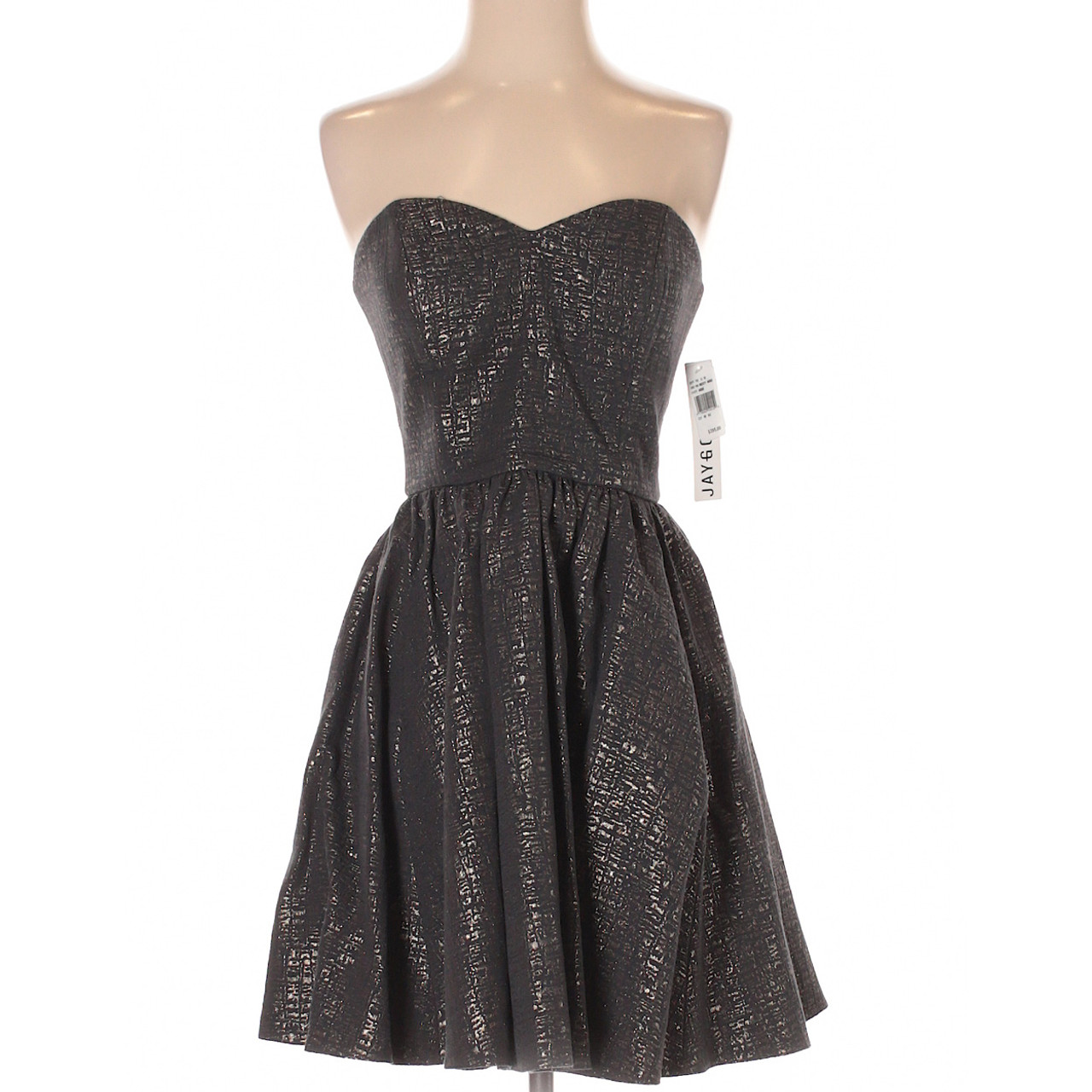 608f2e55eb1 Jay Godfrey Strapless Cocktail Party Dress with Glitter