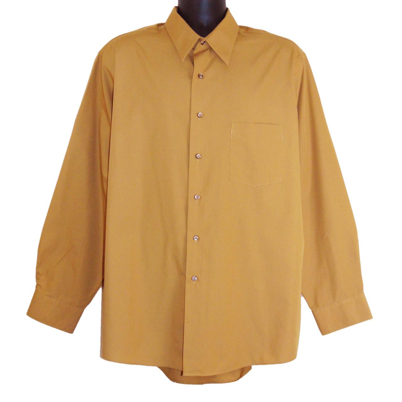 9052f01d0 Van Heusen Wrinkle Free Golden Tan Long Sleeve Dress Shirt