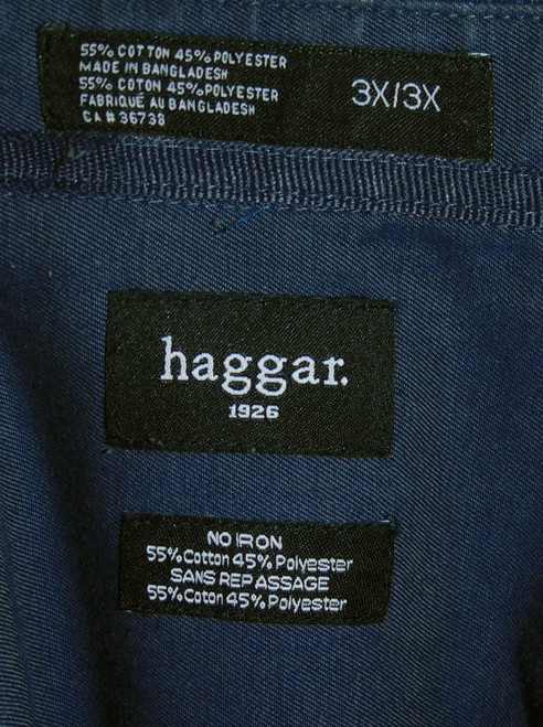 a0638049673 ... Haggar 1926 Checker Blue Long Sleeve Dress Shirt Size 3X