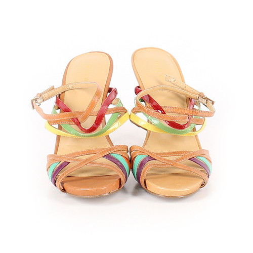 6ee6a2c3911 Nine West Multi Color Open Toe Strappy Sandals ...